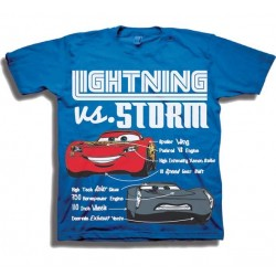 Disney Cars Lightning McQueen vs Storm Toddler Shirt