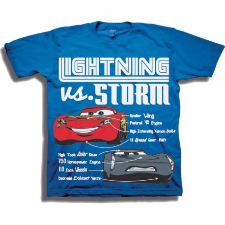 Disney Cars Lightning Mcqueen vs Storm Toddler Boys Shirt At Houston Kids Fashion Clothing Store