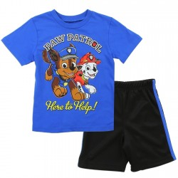 Paw Patrol Here To Help Chase and Marshall Toddler Boys Short Set at Houston kids Fashion Clothing Store