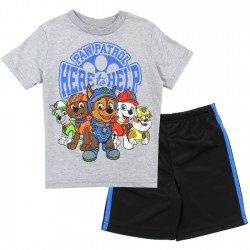 Nick Jr Paw Patrol Here To Help Grey Toddler Boys Short Set At Houston Kids Fashion Clothing Store