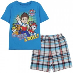Nick Jr Paw Patrol Is On A Roll Blue Short Boys Set