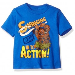 Disney Moana Maui Swing Into Action Royal Blue Toddler Boys Shirt At Houston Kids Fashion Clothing