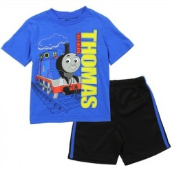 Thomas and Friends Thomas The Engine Toddler Boys Shirt and Mesh Shorts