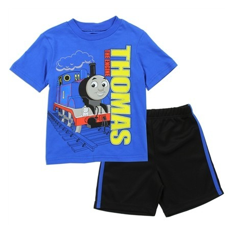 Thomas and Friends Thomas The Engine Toddler Boys Shirt and Mesh Shorts At Houston Kids Fashion Clothing