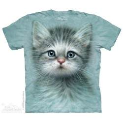 The Mountain Blue Eyed Kitten Short Sleeve Shirt