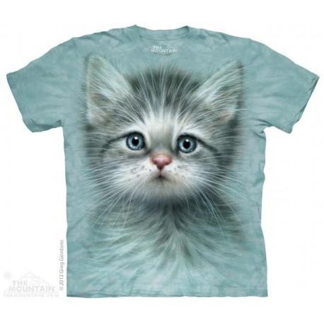 The Mountain Blue Eyed Kitten Short Sleeve Youth Shirt At Houston Kids Fashion Clothing Store
