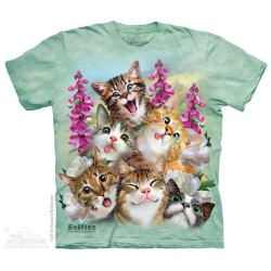 The Mountain Artwear Kitten Selfie Youth Short Sleeve Shirt At Houston Kids Fashion Clothing