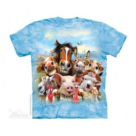 The Mountain Farm Animal Selfie Unisex Short Sleeve Youth Shirt At Houston Kids Fashion Clothing