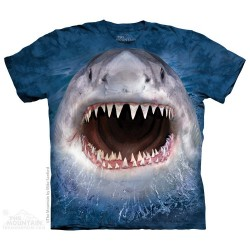 The Mountain Wicked Nasty Shark Blue Short Sleeve Youth Shirt At Houston Kids Fashion Clothing