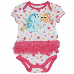 Disney Finding Dory Nemo And Dory White Onesie With Pink Tutu