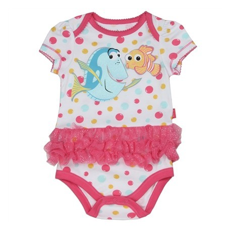 Disney Finding Dory Nemo And Dory White Onesie With Pink Tutu At Houston Kids Fashion Clothing