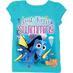 Disney Pixar Finding Dory Just Keep Swimming Toddler Shirt