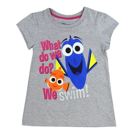 Disney Finding Dory What Do We do We Swim Grey Shirt At Houston Kids Fashion Clothing Store