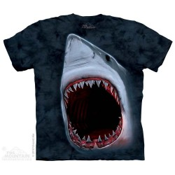 The Mountain Artwear Shark Bite Big Face Shark Youth Shirt