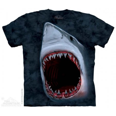 The Mountain Artwear Big Face Shark Bite Boys Youth Shirt At Houston Kids Fashion Clothing Store