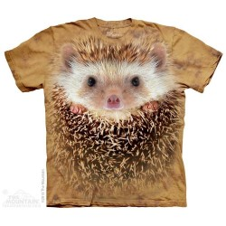 The Mountain Artwear Hedgehog Big Face Short Sleeve Boys Shirt At Houston Kids Fashion Clothing