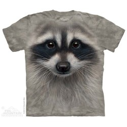 The Mountain Raccoon Big Face Short Sleeve Shirt