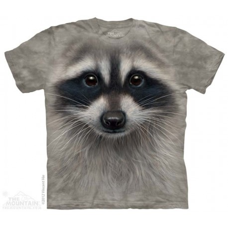 The Mountain Artwear Raccoon Big Face Youth Short Sleeve Boys Shirt At Houston Kids Fashion Clothing Store