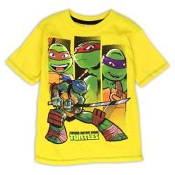 Nick Jr Teenage Mutant Ninja Turtles Yellow Action Shot Shirt