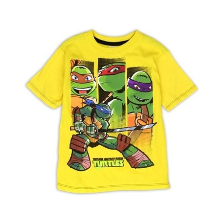 Nick Jr Teenage Mutant Ninja Turtles Yellow Boys Tee Shirt At Houston Kids Fashion Clothing Store