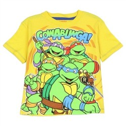 Teenage Mutant Ninja Turtles Cowabunga Dude Yellow Toddler Boys Shirt Houston Kids Fashion Clothing