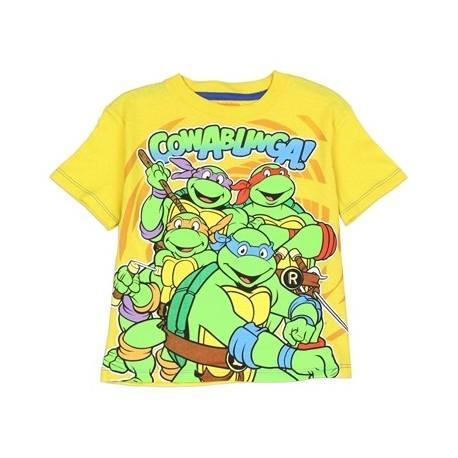 Teenage Mutant Ninja Turtles Cowabunga Dude Yellow Toddler Boys Shirt At Houston Kids Fashion Clothing