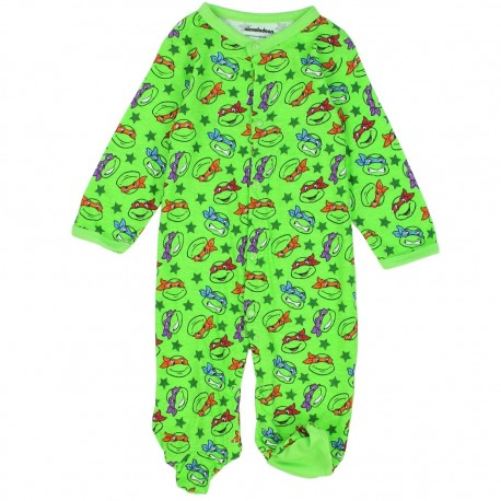 Nick Jr Teenage Mutant Ninja Turtles Green Footed Snap Down Sleeper At Houston Kids Fashion Clothing Store