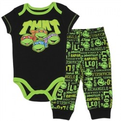 Nick Jr Teenage Mutant Ninja Turtles Black Onesie With Black Pants
