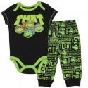 Nick Jr Teenage Mutant Ninja Turtles Black Onesie With Black Pants At Houston Kids Fashion Clothing Store