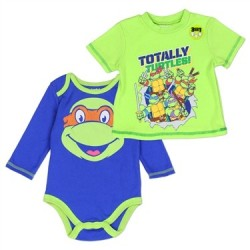 4421c68612d Teenage Mutant Ninja Turtle Totally Turtles Infant Onesie And Shirt Set Houston  Kids Fashion Clothing Store