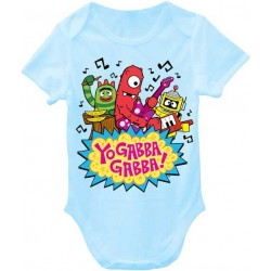 Nick Jr Yo Gabba Gabba Rocks Light Blue Infant Boys Onesie