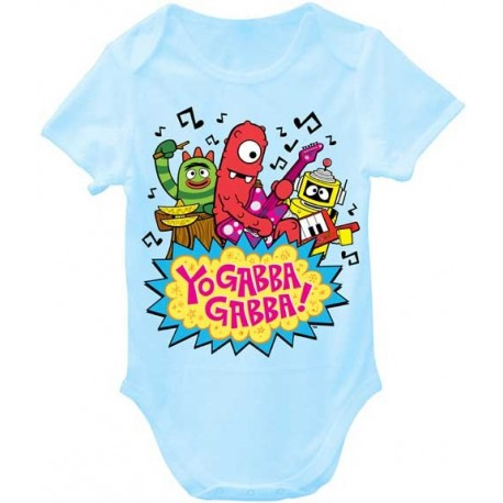 Nick Jr Yo Gabba Gabba Rocks Light Blue Infant Boys Onesie Houston Kids Fashion Clothing Store