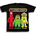 Nick Jr Yo Gabba Gabba Muno Brobee and Plex Black Graphic T Shirt At Houston Kids Fashion Clothing Store