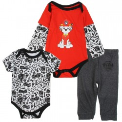 Nick Jr Paw Patrol Baby Boys Marshall 3 Piece Layette Set