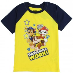 Nick Jr Paw Patrol Pawsome Work Yellow Toddler Shirt