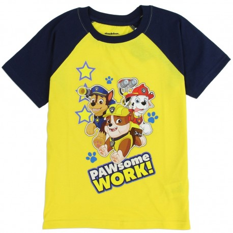 Nick Jr Paw Patrol Pawsome Work Yellow Toddler Shirt At Houston Kids Fashion Clothing Store