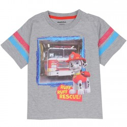 Nick Jr Paw Patrol Marshall Grey Short Sleeve Toddler Boys Shirt Houston Kids Fashion Clothing Store