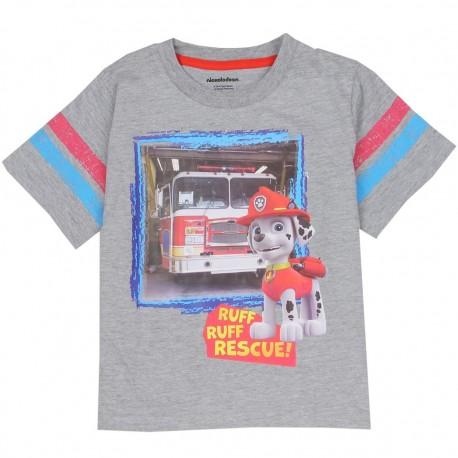 Nick Jr Paw Patrol Marshall The Fire Dog Grey Short Sleeve Toddler Shirt Houston Kids Fashion Clothing Store