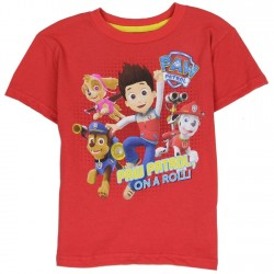 Nick Jr Paw Patrol On A Roll Toddler Boys Red T Shirt