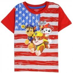 Nick Jr Paw Patrol Red White And Blue Flag Boys Shirt