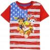 Nick Jr Paw Patrol Red White And Blue Flag Boys Shirt Houston Kids Fashion Clothing