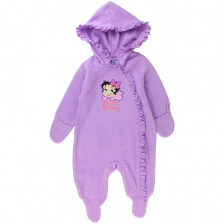 Betty Boop Baby Boop Lavender Lightweight Polar Fleece Pram At Houston Kids Fashion Clothing Store
