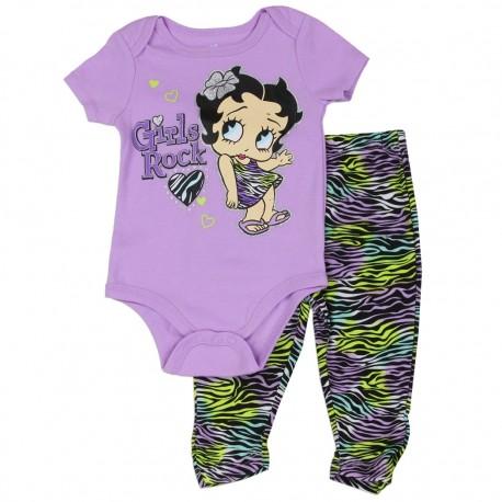 Betty Boop Girls Rock Onesie And Animal Print Srcunch Leggings At Houston Kids Fashion Clothing