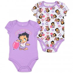 Betty Boop Baby Boop Athletic Dept 2 Pack Creepr Set