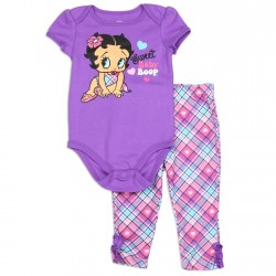 Betty Boop Sweet Baby Boop Creeper And Plaid Leggings