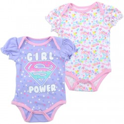 DC Comics Supergirl Girl Power Infant Onesie Set