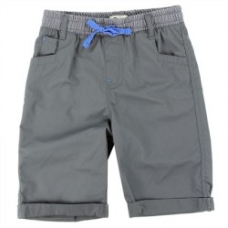 Copper Denim Shadow Denim Twill Boys Shorts With Elastic Waistband