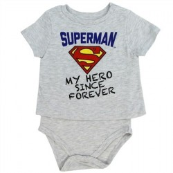 DC Comics Superman My Hero Since Forever T Shirt Onesie At Houston Kids Fashion Clothing Store