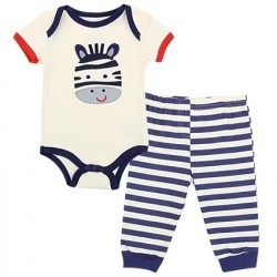 Buster Brown Zebra Wildly Cute Infant Boys 2 Piece Set