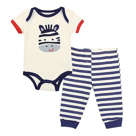 Buster Brown Super Zebra Wildly Cute Infant Boys 2 Piece Set Houston Kids Fashion Clothing Store